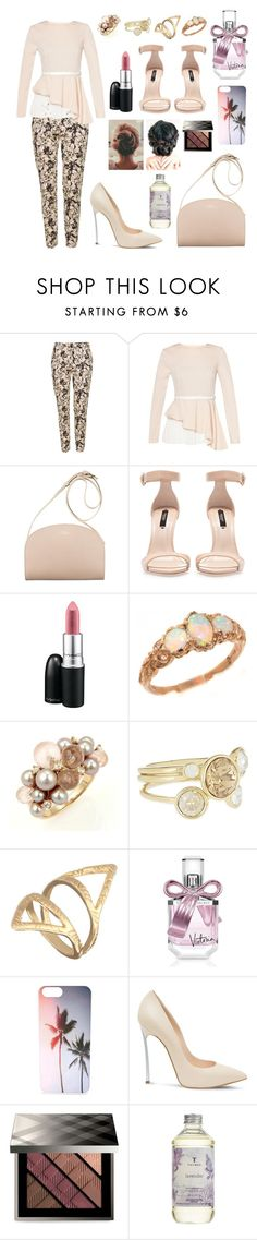 """""""#234"""" by rasheel ❤ liked on Polyvore featuring Topshop, Zara, Trilogy, Mimí, Ted Baker, Victoria's Secret, Casadei, Burberry and Thymes"""