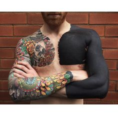 Solid Black Tattoos Are Having A Moment, For People Who Love Ink And Pain: It's like... how much more black could this be? And the answer is none. None more black. (Article)