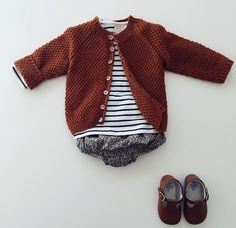 cardigan + stripes