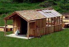 Greenhouse Shed Design - interesting.