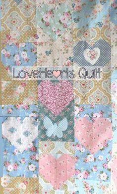 LoveHearts Quilt - Tilda