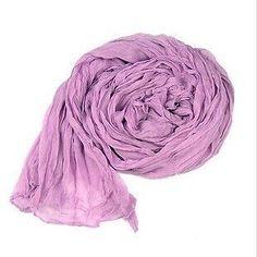Purple Woman Fashion Scarf Long Soft Cotton Silk Shawls Ladies Large Scarf #Scarf