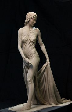 Clay for Bronze. This sculpture is available in limited edition in bronze. Your bronze will arrive about 12 weeks after your p Statue Ange, Poses References, Sculpture Clay, Bernini Sculpture, Angel Sculpture, Art Sculptures, Female Form, Ancient Art, Oeuvre D'art