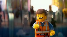 "In the ""The Lego Movie"" the main character Emmet resembles a LEGO minifigure. This is referring to the fact that the movie is based on a famous toy-brand called ""LEGO"". Lego Film, Lego Movie, I Movie, Film Trailer, Movie Trailers, Movies 2014, Good Movies, Cube Film, Chris Pratt Movies"
