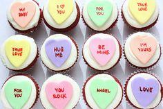 valentines cupcakes super cute <3