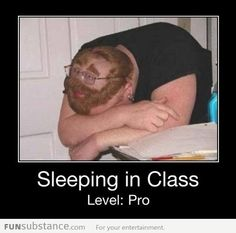 Sleeping in class like a boss