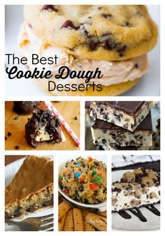 The Best Cookie Dough Desserts! Egg free and amazing this cookie dough desserts are out of this world. www.skiptomylou.org #cookiedough #desserts #recipes