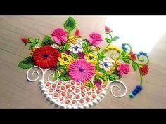 Attractive & effective rangoli design by Jyoti Rathod Indian Rangoli Designs, Simple Rangoli Designs Images, Rangoli Designs Flower, Rangoli Patterns, Rangoli Ideas, Rangoli Designs With Dots, Flower Rangoli, Beautiful Rangoli Designs, Kolam Designs
