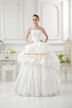 Wunderschönes Extravagantes Brautkleid 2013 aus Taft mit Applikation