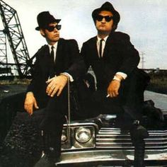 Jake and Elwood..THE BLUESSSS BROTHERSSS!!!!     #1 favorite movie ever!!!!