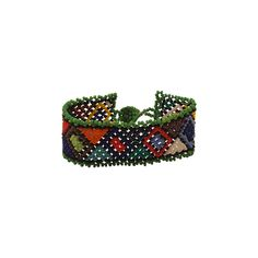 Handcrafted African Zulu beaded bracelets  made by the tribal Zulu women of South Africa.  Materials: Glass beads Colors: Ethnic traditional Zulu colors: blue, red, yellow, turquoise, white, orange, green, lime etc. Beaded Bracelets: 5 and 1/2 inches - 6 inches Clasp : Beaded ball and loops.   **Please note that our products are hand crafted and colors and sizes may vary slightly.