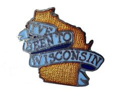 """I've Been To WISCONSIN lapel cloisonne vintage pin by VintageTrafficUSA  11.00 USD  A vintage Wisconsin pin! Excellent condition. Measures: approx 1"""" Add inspiration to your handbag tie jacket backpack hat or wall. Have some individuality = some flair! -------------------------------------------- SECOND ITEM SHIPS FREE IN USA!!! LOW SHIPPING OUTSIDE USA!! VISIT MY STORE FOR MORE ITEMS!!! http://ift.tt/1PTGYrG FOLLOW ME ON FACEBOOK FOR SALE CODES AND UPDATES! http://ift.tt/1P57awb OR FOLLOW…"""