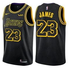 Men s Nike Los Angeles Lakers LeBron James Black NBA Swingman City Edition  Jersey on sale 8c5d46f50