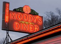 Moody's Diner; Waldoboro, ME -F&W America's Best Diners: In more than 80 years of family ownership, Moody's has been a standard-bearer for New England's unfussy working-class cuisine. (One daughter has even published a Moody's cookbook.) Chowders, fried haddock and lobster rolls anchor the seafood-heavy dinner menu. And no breakfast at Moody's would be complete without one of its cinnamon rolls or blueberry muffins.