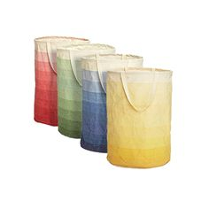 ombre hamper/storage containter :: The Container Store > Horizon Round Crunch Can by Umbra®