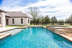 Build Dream Home, Play Pool, Luxury Homes Dream Houses, Custom Pools, Custom Home Builders, Landing, Building A House, Fountain, Waterfall