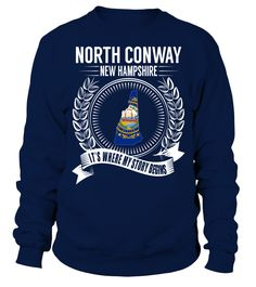 North Conway, New Hampshire Its Where My Story Begins T-Shirt #NorthConway