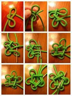 Star Knot 2 part by Dman McqThumbnail for version as of 4 August 2013 Paracord Tutorial, Macrame Tutorial, Bracelet Tutorial, Rope Knots, Macrame Knots, Micro Macrame, Macrame Jewelry, The Knot, Rope Crafts