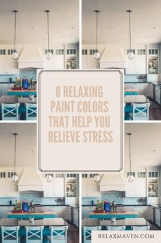 8 Relaxing Paint Colors That Help You Relieve Stress How To Treat Anxiety, Anxiety Help, Reduce Stress, How To Relieve Stress, Deep Breathing Exercises, Yoga Breathing, Best Paint Colors, Calming Colors, Color Psychology
