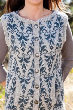Evening Primrose Vest - Knitting Patterns and Crochet Patterns from KnitPicks.com