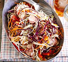 This fresh, light coleslaw has a tangy citrus dressing with celery, mustard and poppy seeds - a lovely light side for a BBQ spread