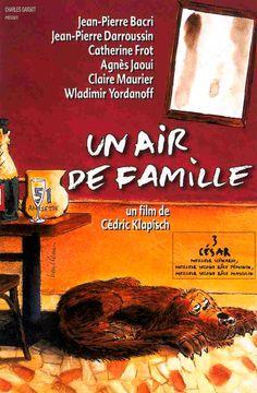 Un air de famille de Cédric Klapisch (1996). Toutes les semaines dans la famille Menard, on se réunit au café dont Henri est le patron et on va manger tous ensemble Aux ducs de Bretagne. Ce soir, qui est pourtant un jour de fête, car c'est l'anniversaire de Yolande la belle-fille, un incident va venir troubler les habitudes. Arlette, la femme d'Henri, est partie une semaine pour réfléchir, ce qui va déstabiliser les autres membres de la famille.