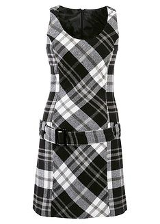 Tartan pinafore dress