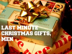 Last Minute Christmas Gifts, Men Last Minute Christmas Gifts, Christmas Gifts For Men, Romantic Wedding Gifts, Gift Wrapping, Weddings, Gift Wrapping Paper, Male Christmas Presents, Romantic Wedding Presents, Wrapping Gifts