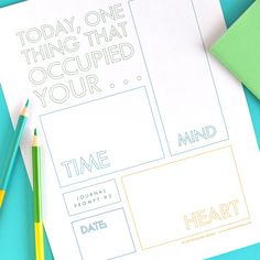 Printable Journal Prompt by Christie Zimmer. What sorts of things (and loves) are occupying your time, mind, and heart today? #journal #journaling