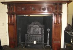 FIREPLACE. front view of the Victorian surround Victorian Fireplace, Error Page, Interior Inspiration, Antiques, Wood, Home Decor, Antiquities, Antique, Decoration Home