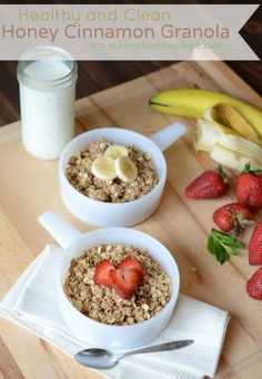 "Healthy Homemade Granola - it's ""clean"" and you'd never know it. Plus you can mix and match a bunch of things to make it just how you like it!"