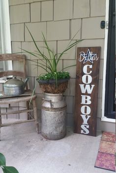 Sports sign//  Dallas Cowboys// Hand painted // Sports Decor // Welcome signs…