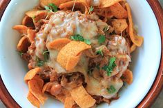 Pulled Pork Frito Pie is one of those slow cooker pulled pork recipes that's a pulled pork lover's dream! Not to mention, if you like Frito snack chips, Fritos are included too! This savory, slow cooker casserole recipe is a creative delight. Pulled Pork Recipe Slow Cooker, Pork Roast Recipes, Pulled Pork Recipes, Slow Cooker Recipes, Crockpot Recipes, Cooking Recipes, Game Recipes, Crockpot Dishes, Yummy Recipes