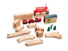 Wooden toy trains in Kolkata: it runs on a wooden track, system grooves to guide the wheels of the rolling stocks & also the trains tracks & accessories are mainly made of wood, engines & the cars connected to each other by using metal hooks or small magnets