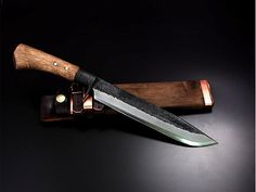 Tosa forged hunting knife blue single-edged 240