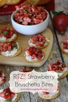 RITZ® Strawberry Bruschetta Bites - #PutItOnARitz