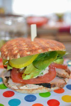 Sandwich au porc sauce chipotle et lime