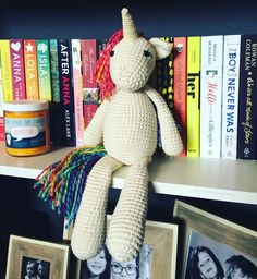 I missed #nationalunicornday yesterday! And I wanted to show you all my new unicorn Rainbow-Rae. This was made with love by Kelly @the_merino_mermaid She designs and sells crochet patterns on her Etsy store and has such a fabulous range of cuties! I had admired her unicorn on several occasions so she made this especially for me. Thanks so much Kelly! ______________________________________ Bookstore candle by Roxie and Tom at @frostbeardmpls  ______________________________________ by…