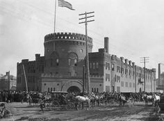 "Historic Photos of Toledo - Ohio National Guard 1898, The Armory. An excerpt from ""Historic Photos of Toledo"" by Gregory M. Miller"
