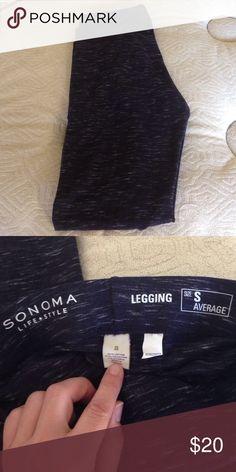 Sonoma life + style black leggings NWOT. Size S Average. 56% cotton, 37% polyester, 7% spandex. Never worn. Imported. Machine wash. Sonoma Pants Leggings
