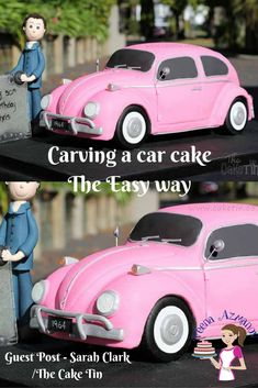 Cake Carving Tutorial - Carving the a car cake the easy way.