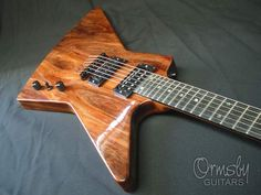 "Ormsby Guitars - Not even an Explorer escapes their shop ""normal""."
