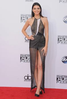 This sheer long gown with hotpant, or body suit under would be amazing for a prom, debs, 21st ect,