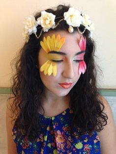 Flowers Fashion MakeUp