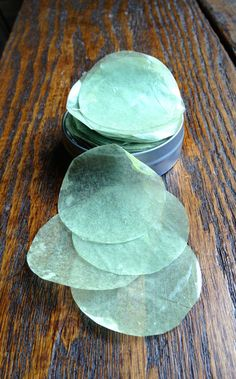 Spearmint Eucalyptus Travelers Soap Petals (Organic) Single Use Soap--use a potato peeler or mandolin to slice soap thin