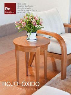 Mesa Lateral Redonda   -muebles de interior /indoor furniture  -Diseño Rojo Óxido  www.rojooxido.mx Table, Furniture, Home Decor, Filing Cabinets, Centerpieces, Mesas, Interiors, Home, Blue Prints