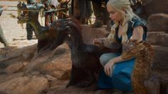 Dany then tells the dragons to fly away. Why? I don't know, but I like anything dragon-y.