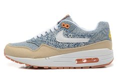 Nike Air Max 1 Liberty QS Sneakers Unisex Running shoes Blue Recall/White-Linen 540855-400