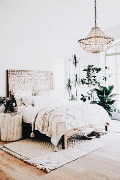 boho master bedroom. beach house vibes