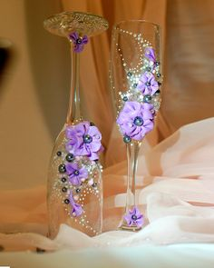 Wedding Toast Glasses Wedding Champagne Flutes by WeddingbyAnn, $28.00
